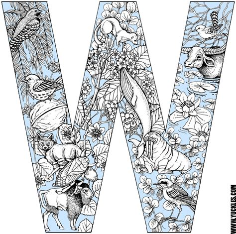 W Is For Web Coloring Page by Letter W Coloring Page By Yuckles