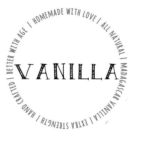vanilla extract label template vanilla extract labels printables