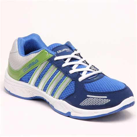 columbus sports shoes buy columbus pu sports shoes blue green 5627 at