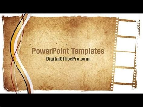 Grunge Film Strip Powerpoint Template Backgrounds Digitalofficepro 03652w Youtube Filmstrip Powerpoint Template