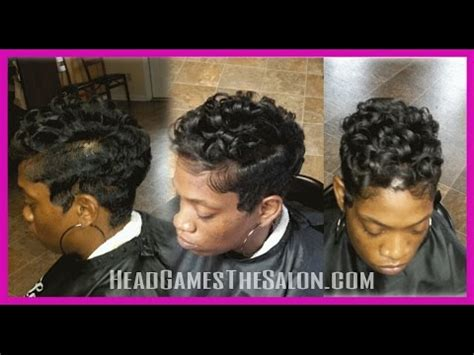 how to get soft wave curls african american hair finger waves and curls short style youtube