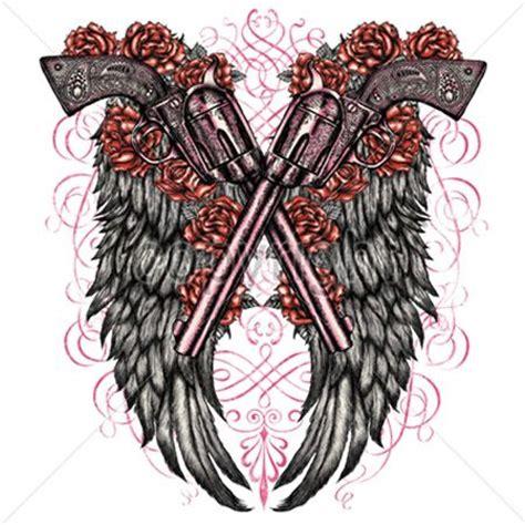 tattoo angel with guns gun wings gun wings gun shirts and second amendment