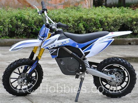 electric motocross bike uk mini moto electric dirt bike gazelle 500w 36v li ion or