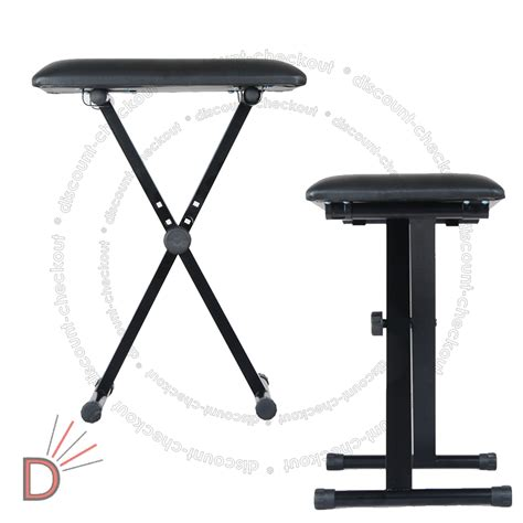 adjustable height foldable x frame keyboard bench piano