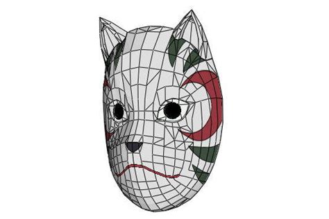 Kitsune Mask Papercraft - paper on flipboard