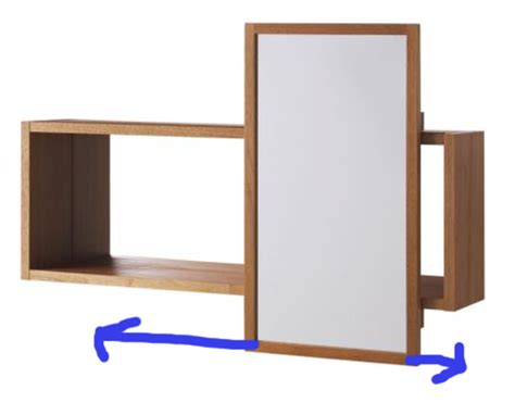 sliding bathroom mirror molger sliding bathroom mirrored cabinet by ikea