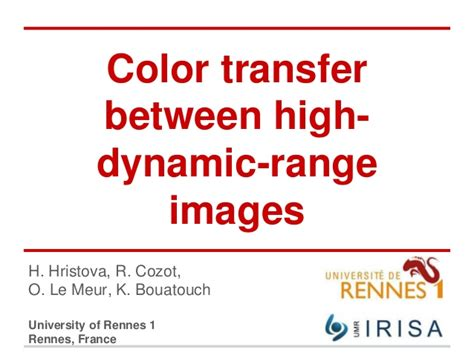 color transfer color transfer between high dynamic range images