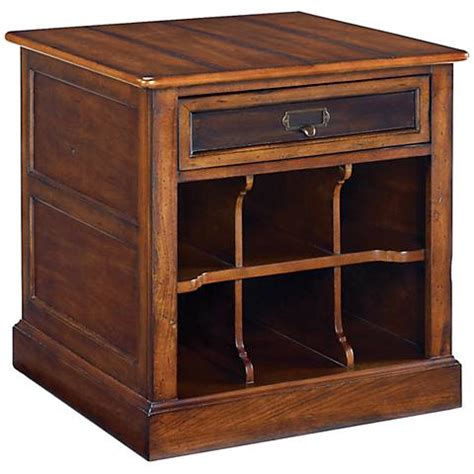 accent tables with storage hammary mercantile 1 drawer whiskey storage end table 2j596 ls plus