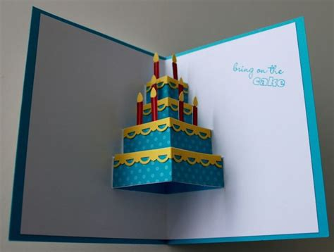 how to make a cake pop up card this pop up card cards pop up