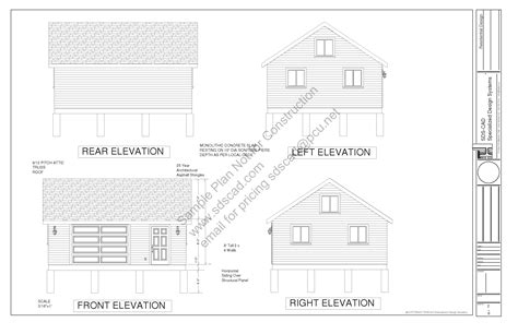 20 x 24 garage plans g448 24 x 20 x 8 free pdf garage plans blueprints