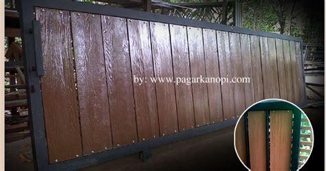 bengkel las depok pagar besi grc motif kayu