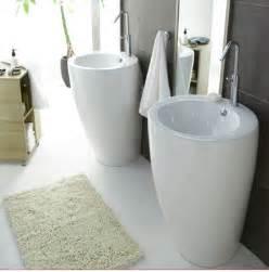 salle de bain design carrelage gris vasque blanc castorama
