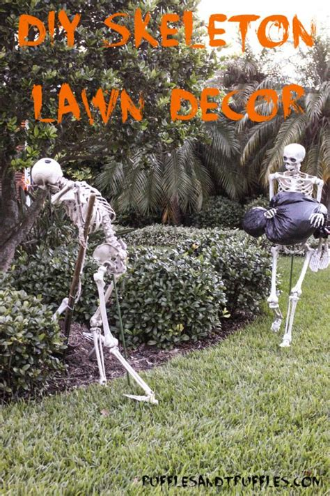 Diy Animated Yard Decorations Diy Do It Your Self Diy Skeleton Lawn Decor For For How To Pose A Set Of Skeletons In Your