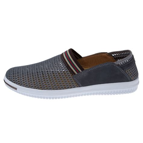 breathable mens slip on mesh hollow out shoes outdoor