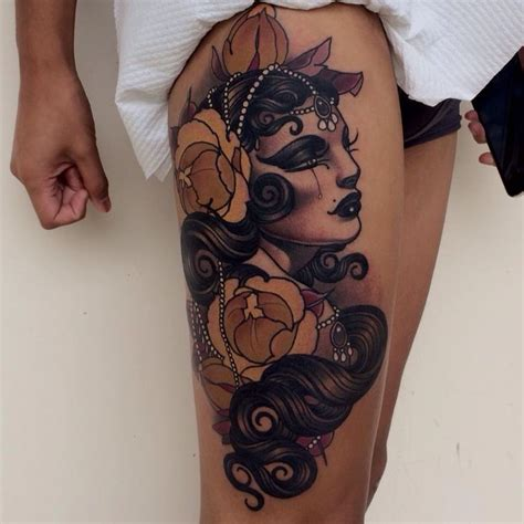 rose upper thigh tattoo 1000 ideas about flapper on tattoos