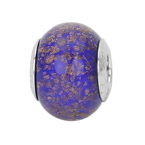 Murano Glass Bowls And Vases Charm Beads Sterling Silver Blue Avventurina Murano