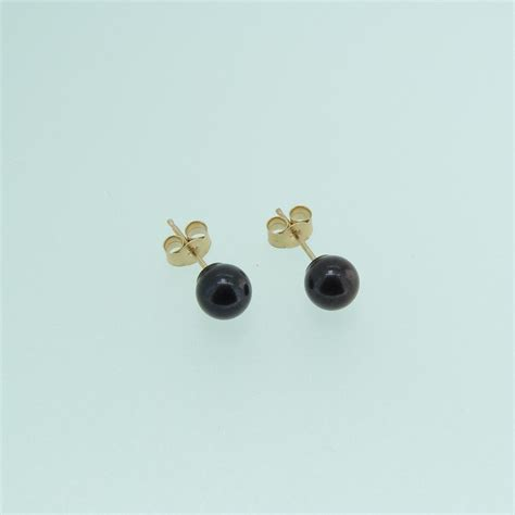 black pearl stud earrings mhpearljewellery co uk