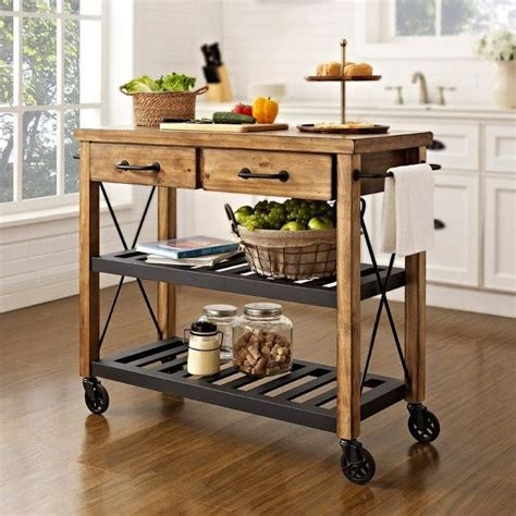 kitchen island cart ikea can t find the diy for this but it doesn t look too hard