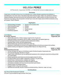 examples of nanny resume 2