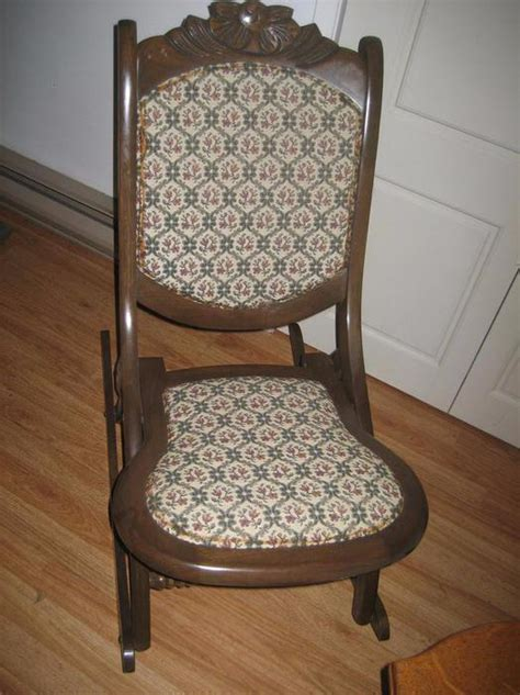 small antique rocking chair antique folding rocking chair small size saanich