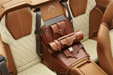 auto upholstery leather equestrian themed aston martin db9 volante by q
