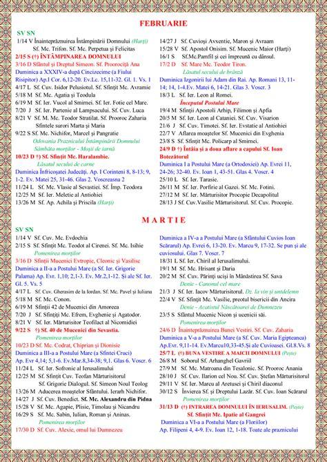 Calendar Crestin Ortodox 2016 Calendar Ortodox 2016 Stil Vechi Search Results