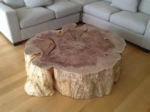 Wood Stump Coffee Table Organic Stump Coffee Table Vanillawood House