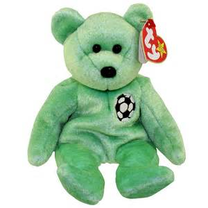 ty beanie baby kicks the soccer bear 8 5 inch