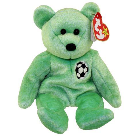 ty beanie baby kicks the soccer bear 8 5 inch