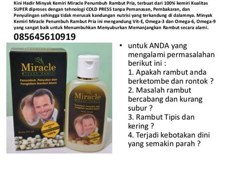 Minyak Kemiri Miracle penumbuh rambut pria penumbuh rambut untuk pria vitamin