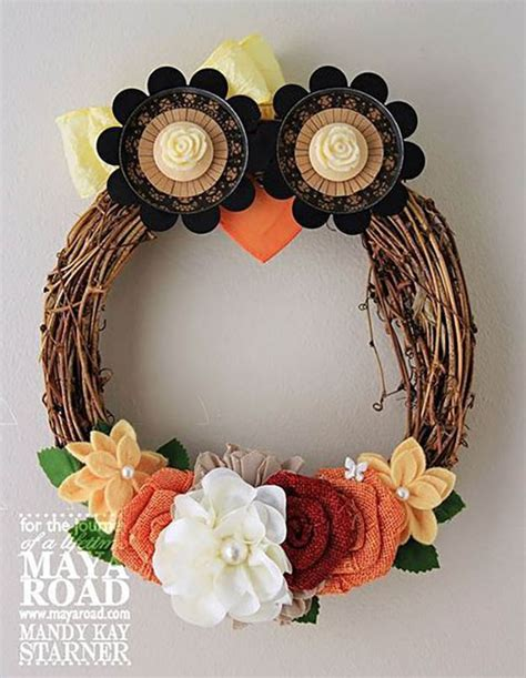 Diy Owl Decorations by 21 Diy Fall Door Decorations Diy Ready