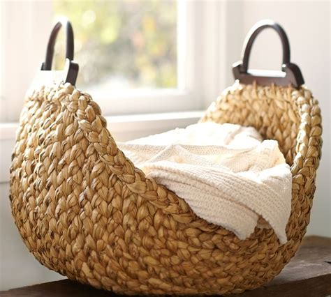 large basket for storing throw pillows a basket with handles in the living room may be used for