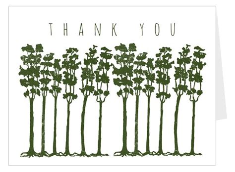 Thank You Card Template With Tree by The World S Catalog Of Ideas