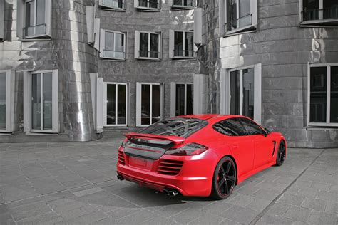porsche panamera turbo red anderson germany porsche panamera red