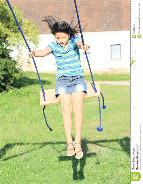 swing t girl on swing royalty free stock images image 33487429