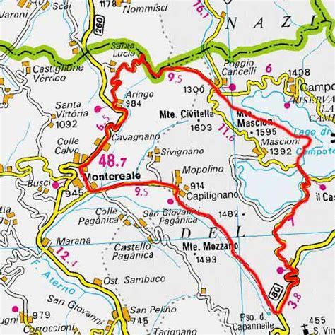 itinerario anello delle citt 224 itinerario ad anello bivio cotosto capitignano