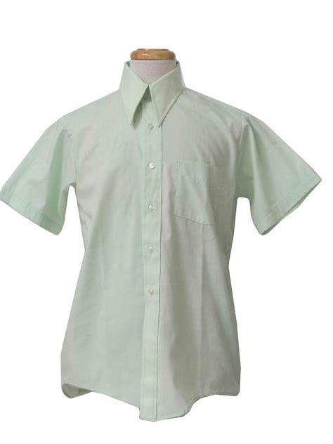 light mint green dress shirt 1970 s shirt care label 70s care label mens light