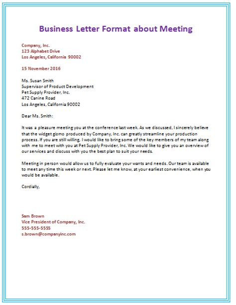 Business Letter Writing Format   The Best Letter Sample