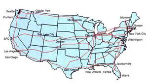 Map Of Amtrak Routes by North Star Home