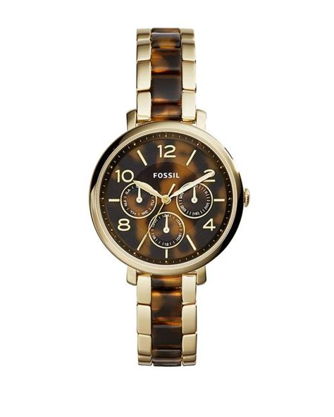Fossil Es3923 Chelsey Multifunction Tortoise And Acetate fossil jacqueline goldtone tortoise in gold