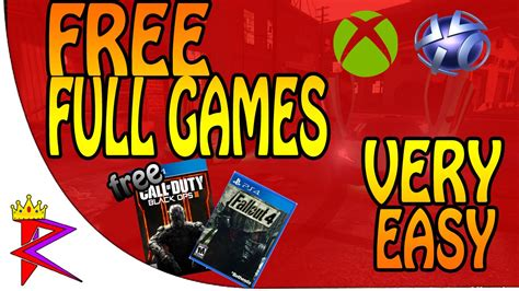 full free games xbox one how to get free ps4 ps3 xbox one xbox 360 full games