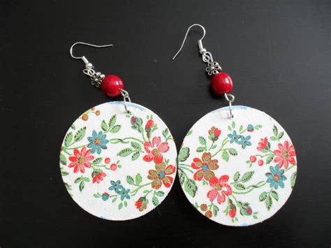 decoupage earrings earrings decoupage i by jareczka on deviantart