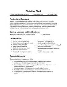 Resume Certification Section Sle by Cna Resume Sles Best Business Template