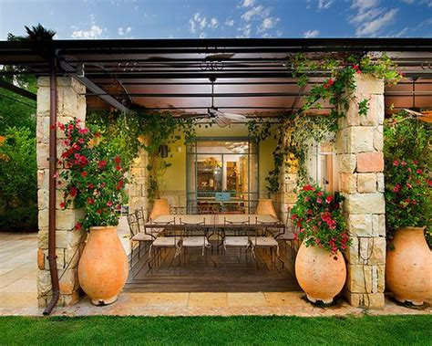 tuscan backyard perfectly peach patios ideas inspiration