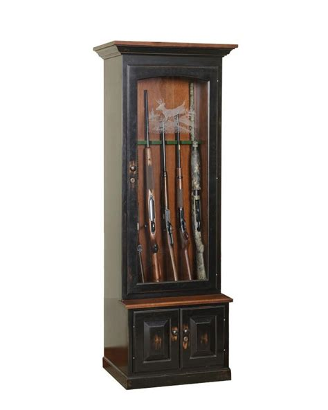 Amish Gun Cabinet by Amish Handcrafted Gun Cabinet