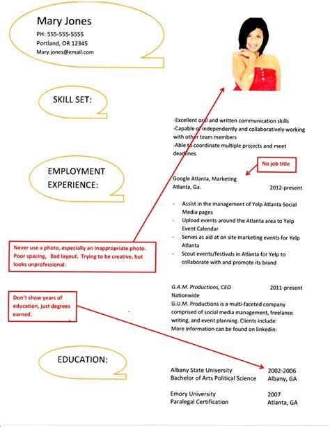Bad Resume by Exles Of Bad Resumes Pdfsdocnts X Fc2