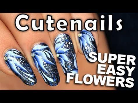 easy nail art poppy design one stroke one stroke nail art flower easy pretty youtube