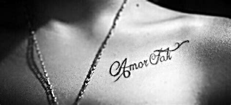 amor fati tattoo fati the of fate philosophy my
