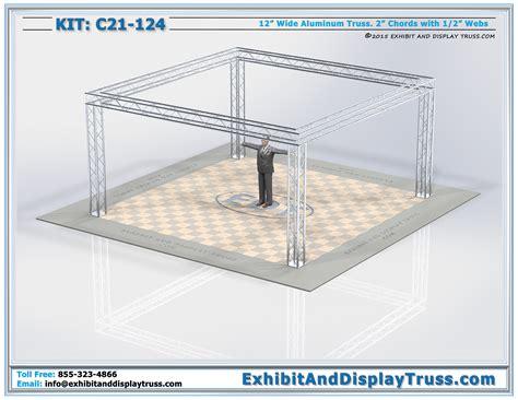 trade show display lights 20 x 20 exhibit display kits c21 124