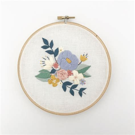 design patterns in embroidery floral spray pdf embroidery pattern digital download